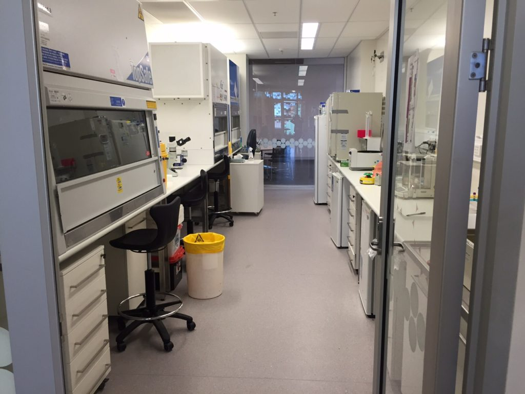 The Burns Tissue Culture room